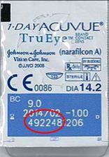 Rückruf der 1-Day Acuvue TruEye (Narafilcon A)-Linsen