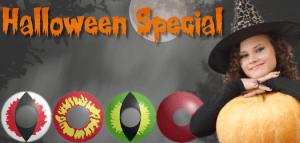 Halloween Kontaktlinsen Spezial Angebot