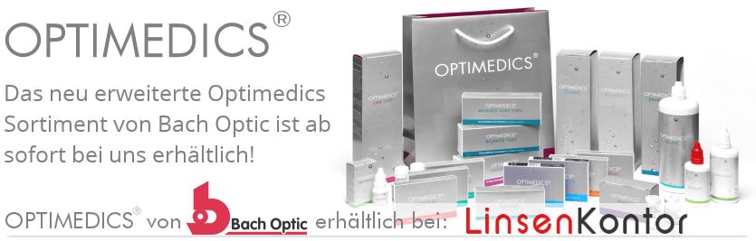 OPTIMEDICS neue Kontaktlinsen von Bach Optic. Das erweiterte Sortiment ist ab sofort bei LinsenKontor.de erhältlich.
